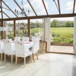Spacious dining conservatory for special group get togethers